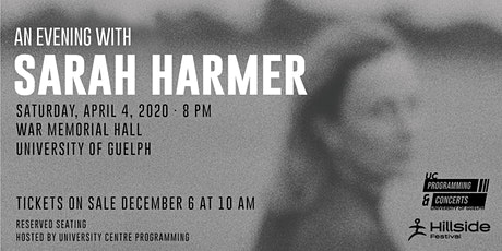 An Evening with Sarah Harmer tickets