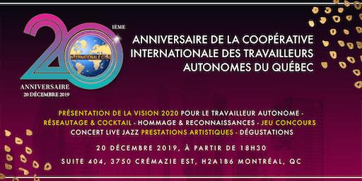 VISION 2020: Célébration du 20e anniversaire de L'Internationale CITAQ
