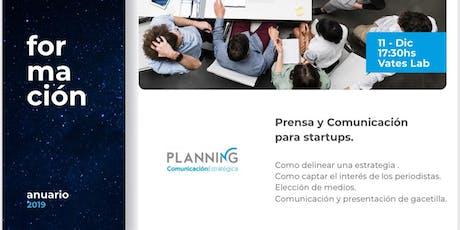 Taller de Prensa y Comunicación para Startups entradas