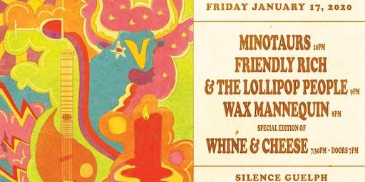 Silence Presents: Friendly Rich wsg Minotaurs & Wax Mannequin