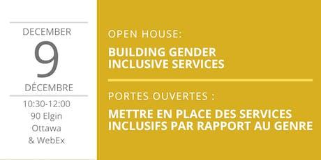 Gender Inclusive Services / Des services inclusifs par rapport au genre billets
