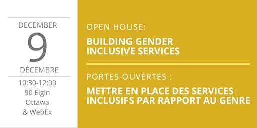Gender Inclusive Services / Des services inclusifs par rapport au genre