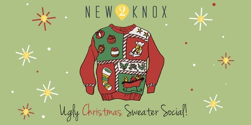 New2Knox Ugly Christmas Sweater SOCIAL