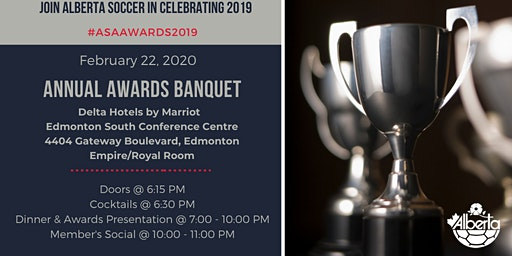 2020 Alberta Soccer Annual Awards Banquet