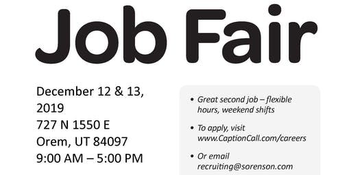 CaptionCall On-Site Job Fair for our Orem Center!