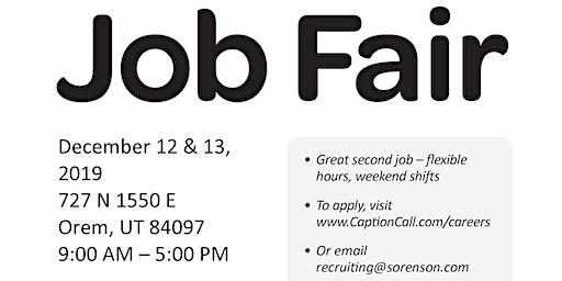 CaptionCall On-Site Job Fair for our Orem Center!