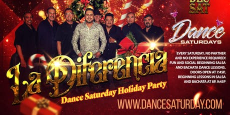 Dance Saturdays Holiday Party - LIVE Salsa, Bachata, Kiz  - 3 Dance Lessons tickets