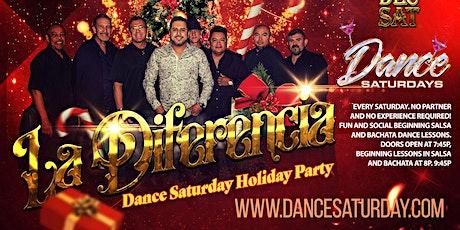 Dance Saturdays Holiday Party - LIVE Salsa, Bachata, Kiz  - 3 Dance Lessons tickets