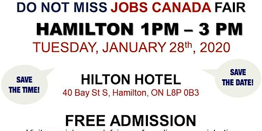Hamilton Job Fair –   January 28th, 2020