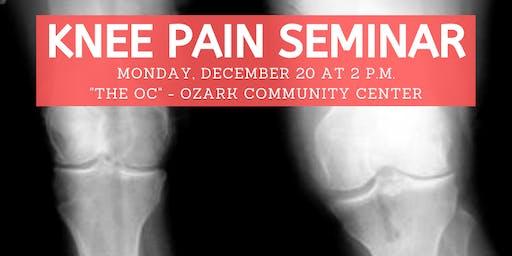 Ozzie Smith Center KNEE Pain Seminar - Jan. 20