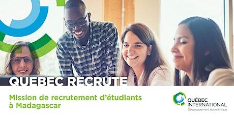 Mission de recrutement d'étudiants à Madagascar  billets