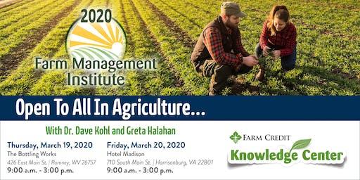 2020 Farm Management Institute - Harrisonburg, VA