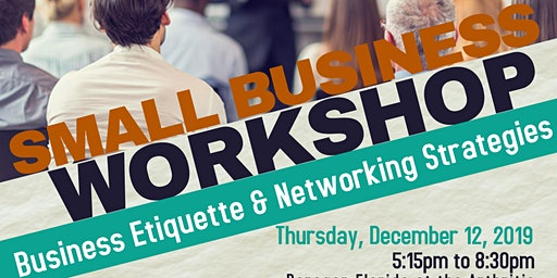 Paragon and LASPBC's Small Business Workshop: Business Etiquette