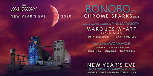 NYE: Bonobo, Chrome Sparks, & more TBA at The Midway