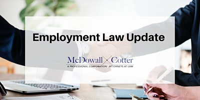 Employment Law Update Workshop - McDowall Cotter San Mateo 2/26/2020