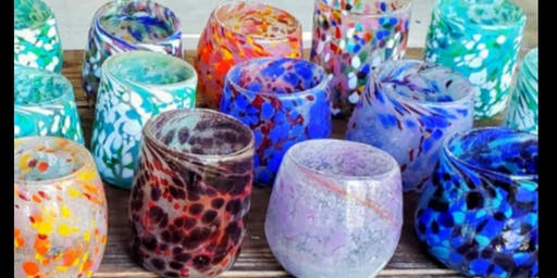 GLASS BLOWING Create-Your-Own Stemless Wine Glass or Tumbler