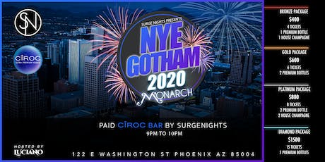 Gotham New Years Eve 2020 At Monarch tickets