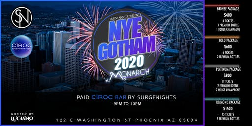 Gotham New Years Eve 2020 At Monarch