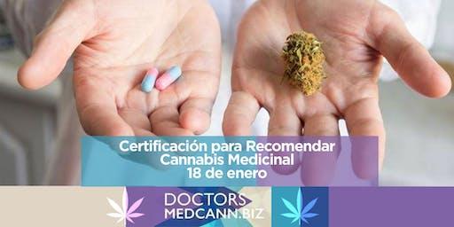 Certificación de Medicos para recomendar Cannabis Medicinal