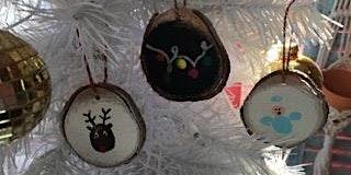 Fingerprint Wood Slice Ornaments