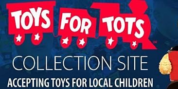 Toys for Tots Drop-Off and Drink Specials at Mac's Speed Shop!