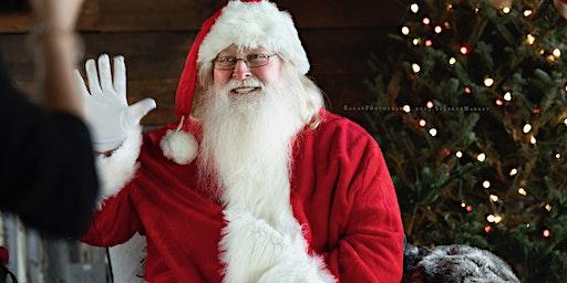 Santa In The Barn