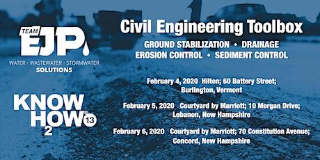 Civil Engineering Toolbox - Burlington, Vermont tickets