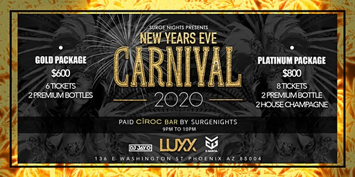 El Carnival New Years Eve 2020 At Luxx