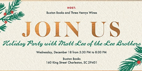 Holiday Party with Matt Lee of the Lee Brothers tickets