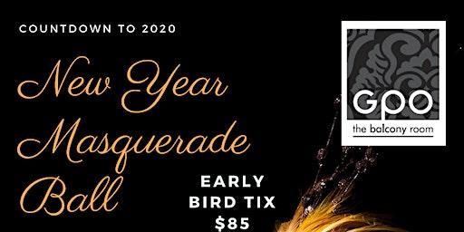 New Years Eve Masquerade Ball @GPO