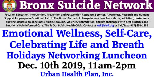 Bronx Suicide Network - Celebrating Life, Wellness, Breath Holiday Luncheon