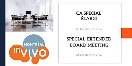 CA SPÉCIAL ÉLARGI / SPECIAL EXTENDED BOARD MEETING billets
