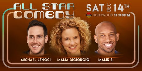 Michael Lenoci, Malik S., and Maija Digiorgio - All-Star Comedy tickets