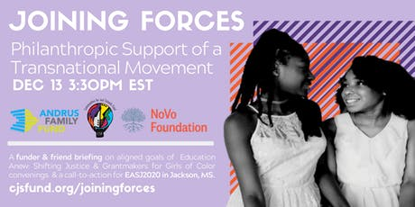 Joining Forces: A Transnational Movement (a funder webinar) tickets