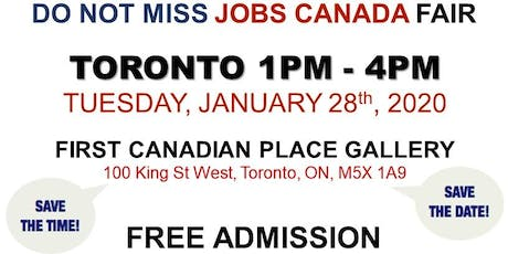 Free: Toronto Job Fair - January 28th, 2020 tickets