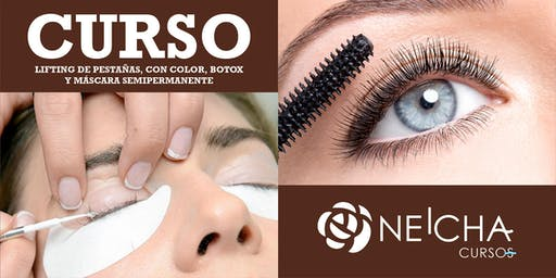 Curso de Lifting y Permanente de pestañas, con color, botox y máscara semip