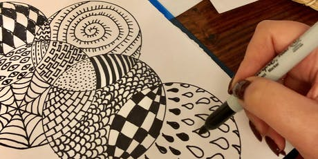 Stress Less with Drawing Mandala Art Workshop in Greenwich! Adults class tickets