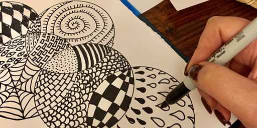 Stress Less with Drawing Mandala Art Workshop in Greenwich! Adults class