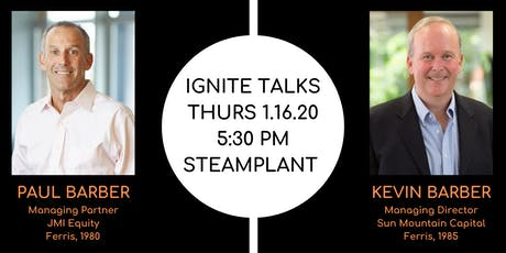 Ignite Talks:  The Barber Brothers, Private Equity and Debt Investors tickets