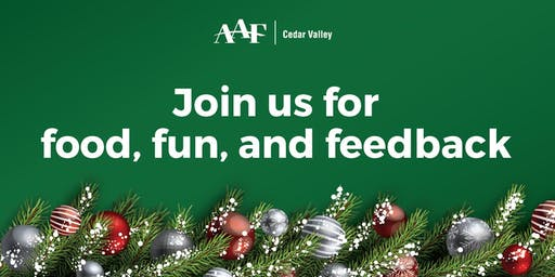 AAF-Cedar Valley holiday party
