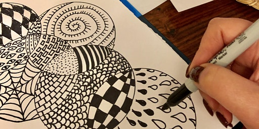 Stress Less with Art Workshop in Greenwich! Easy Drawing. Adults class