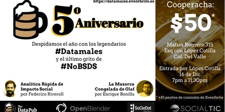 The Data Pub 5o Aniversario: #Datamales! boletos
