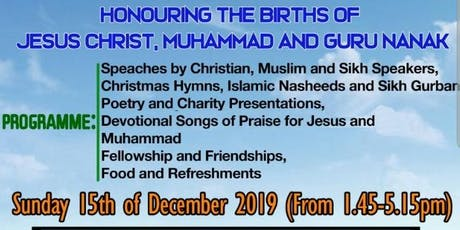 People of Faith Celebrating Together- Christmas, Milad and Gurpurab tickets