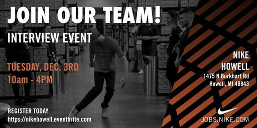 Interview Event at Nike Howell