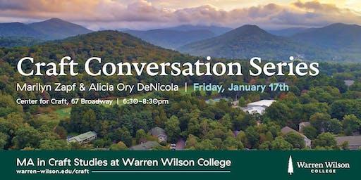 Craft Conversation Series: Marilyn Zapf and Alicia Ory DeNicola