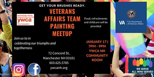 Veterans Affairs Team Painting Meetup