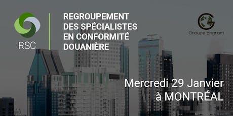 Regroupement des Spécialistes en Conformité à Montréal le 29 Janvier billets