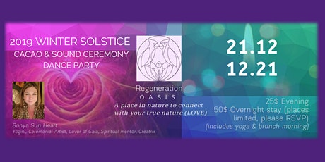 Winter Solstice d'Hiver 2019 : Cacao Ceremony & Célébration Weekend tickets