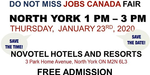 FREE: North York Job Fair – January 23rd, 2020