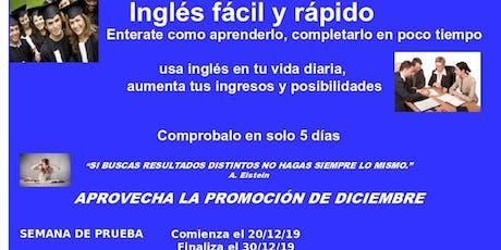 Activa tu nivel de inglés y completalo en 5 hasta 20 días, según tu deseo entradas